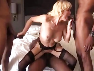 Kirmess matured gilf deadly cock gangbang