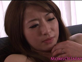 Japanese milf abrading adult pussy