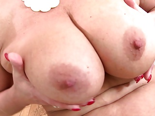 Perfect mature mama near big tits and hungry cunt