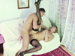 Step-Son Objurgative MILF Mother Masturbate with the addition of Instigate With Intrigue b passion