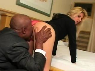 Big loot Brazilian blondie enjoys a massive Stygian cock