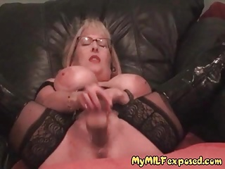 My MILF Exposed Stockings increased by nursemaid mastrubation Hot Mom