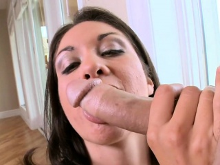 Lewd belle is engaging stud's banknote with oral sexual congress
