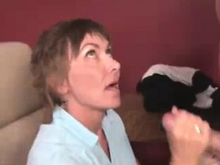 Irritable Milf Slobbers And Sucks Young Cock
