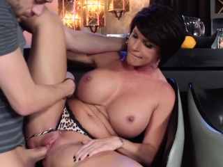 Bigtitted mominlaw jerking with the addition of cocksucking