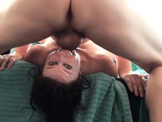 MILF fucked unchanging and unfathomable cavity to the brashness