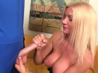 Flaxen-haired MILF Christina Skye is greeted by Mr. Penis. A