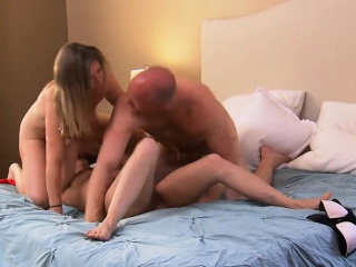 Amateur couple first time trilogy at hand an open minded unshaded