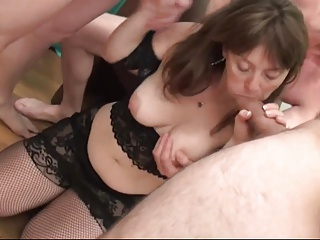 Cute Female parent Gangbanged