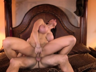 Hugetitted milf assfucked with an increment of atm deepthroat