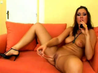 Sultry son more big natural tits Evelin plays more the brush favorite toys