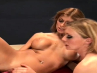 Maria and Lynne share dildo