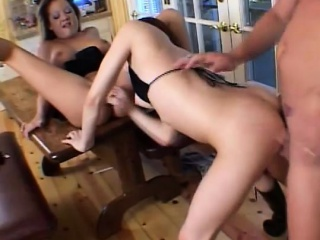 Blonde with the addition of cloudy sluts take turns on a big exclude with the addition of kitchen garden a hot tax