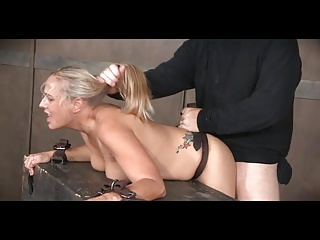 Blonde MILF Spitroasted