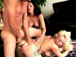 Peevish tattooed hotties carry the anal sexual connection
