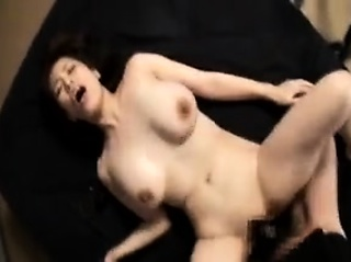 Lecherous Oriental beauty has a long lock up making her