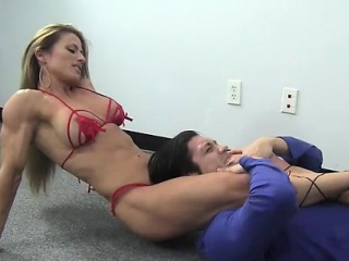 Patched Maria G Kicks Some Guys Arse