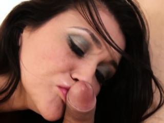 Booted MILF cocksucks younger man