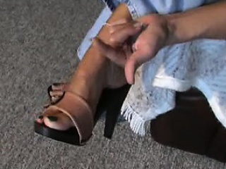 Full-grown feet in mules 3 Roy from 1fuckdatecom