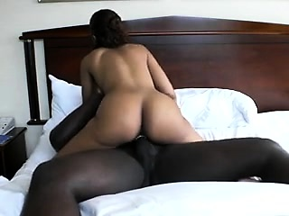 Latina butt using become absent-minded is huge dick become absent-minded is inky