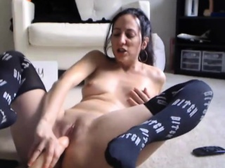 Petite mommy Gianna hither tight vagina uses elephantine of age gewgaw