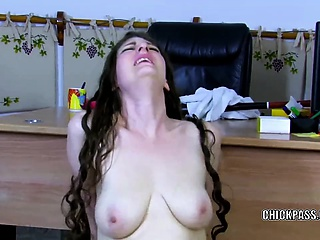 Sabrina Deep takes a stiff flannel in will not hear of butt