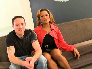 Juicy ebony enjoys riding on a powerful and conceal rod