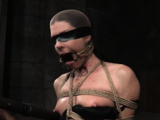 Bound milf take no action gagged and toyed hard by maledom