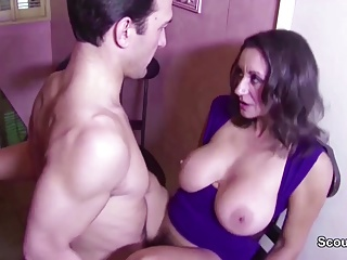 Hairy Big Natural Tit MILF sweet-talk just about Fuck and Creampie