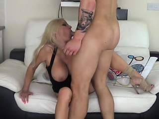 Obese confidential milf blowjob with cumshot