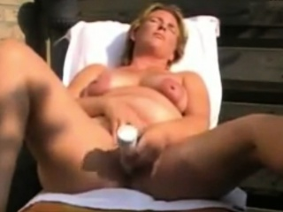 Backyard ill-treat Dutch Milf Judith