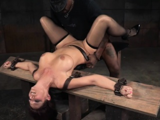 Sub milf deepthroating with an increment of having it away in bdsm