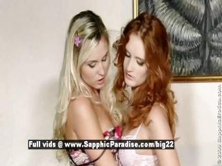 Heaven and Crystal from sapphic erotica lesbian girls anal licking
