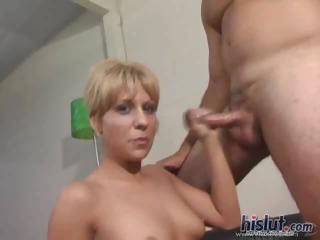Amber loves spitting on dick