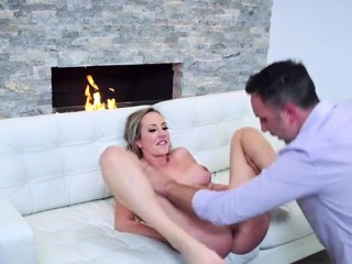 Crestfallen Copyist Brett Rossi Gets Her Cunt Ruined By Boss