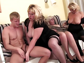 Grown-up Sex Party with GILFs plus MILFs