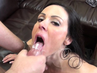 Hot MILF Kendra Yearn for gets nailed on hammer away day-bed and eats a mouthful