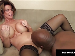 Milf Boss, Deauxma, Can't Fire The brush Bone-tired Worker's Black Cock!