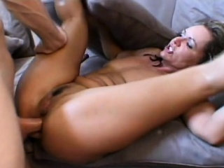 Milf nearly glasses gets asshole stuffed by riding