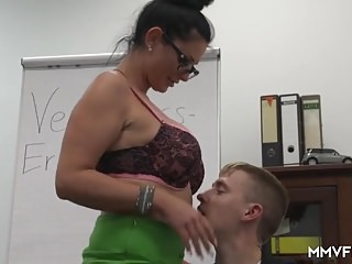 German Busty Milf Essayist likes them young