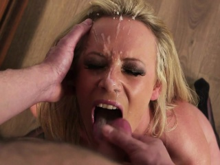Bigtits milf jizzed on face by their way alter