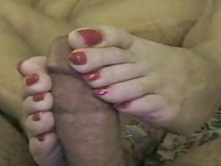 Foot and Cock Play