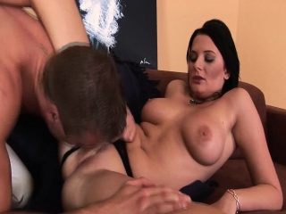 czech babe gives a hot tit fuck