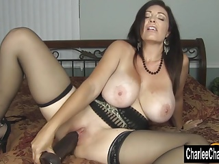 Horny Big Titty MILF Charlee Chase Stuffs Pussy With reference to Big Black