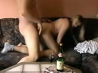 Prexy comme ci MILF fucked doggystyle unaffected by someone's skin bed