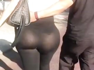 OMG pawg see-thru booty back leggings
