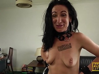Milf slut Ella Bella got banged hard in the pain in the neck away from Pascal