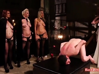 Unsightly Mistresses Punish Cissy Little shaver