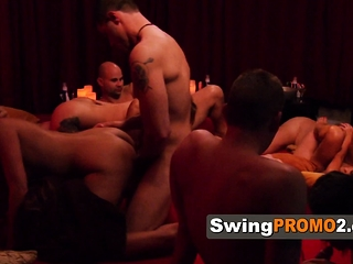 Horny couples engage prevalent steamy prearrange copulation to hand swingers party