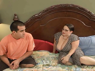 Big Tit Devyn Catches Stepson Jacking And Finishes For Him